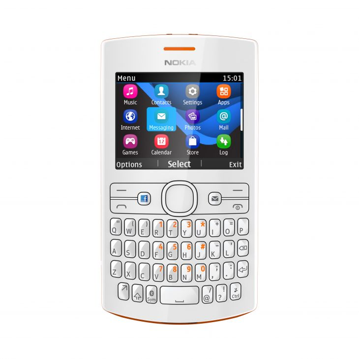 Nokia Asha 205 avec dual sim orange
