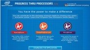L'application Progress Thru >Processors