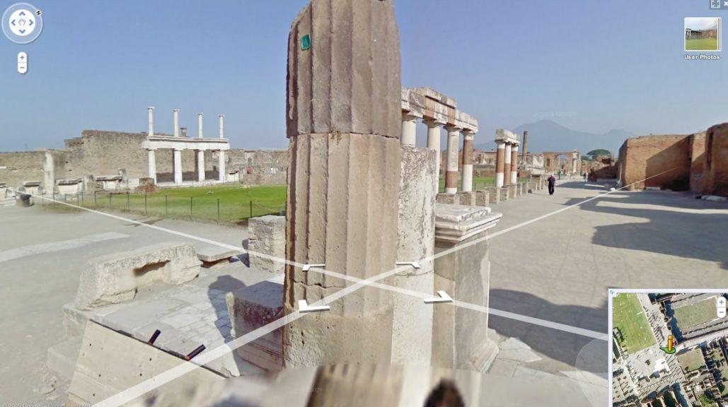 Une vue Google Street View du site de Pompéi