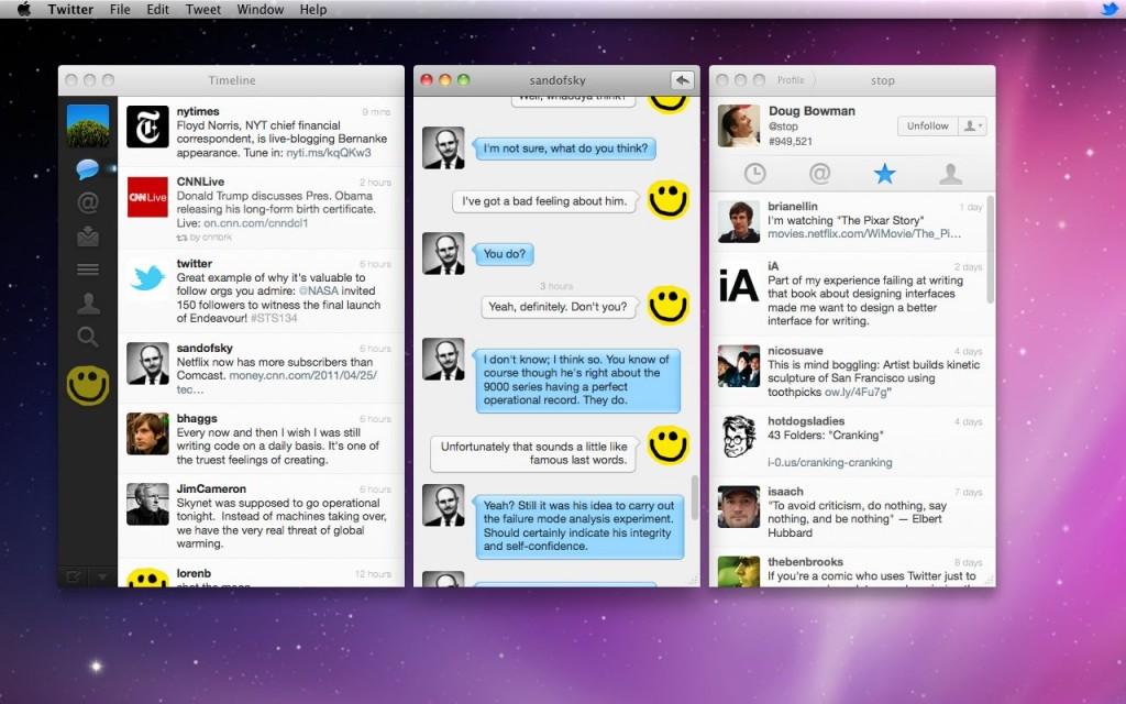 Twitter pour Mac