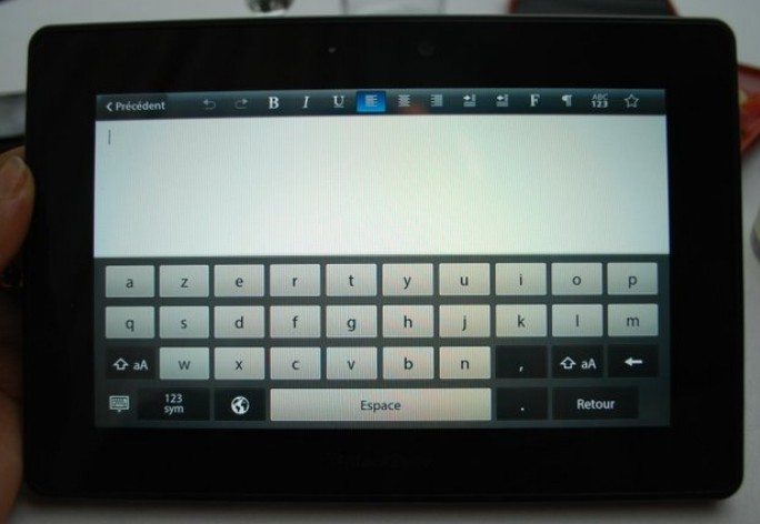 PlayBook-clavier
