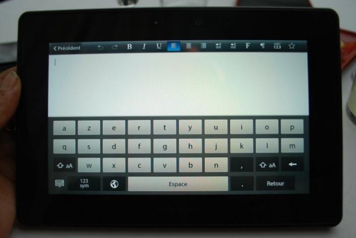 PlayBook-clavier