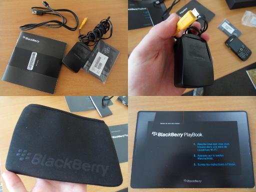 Ergonomie BlackBerry Playbook