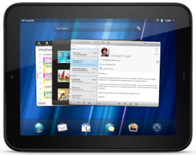 HP TouchPad paysage