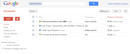 Google Docs refonte