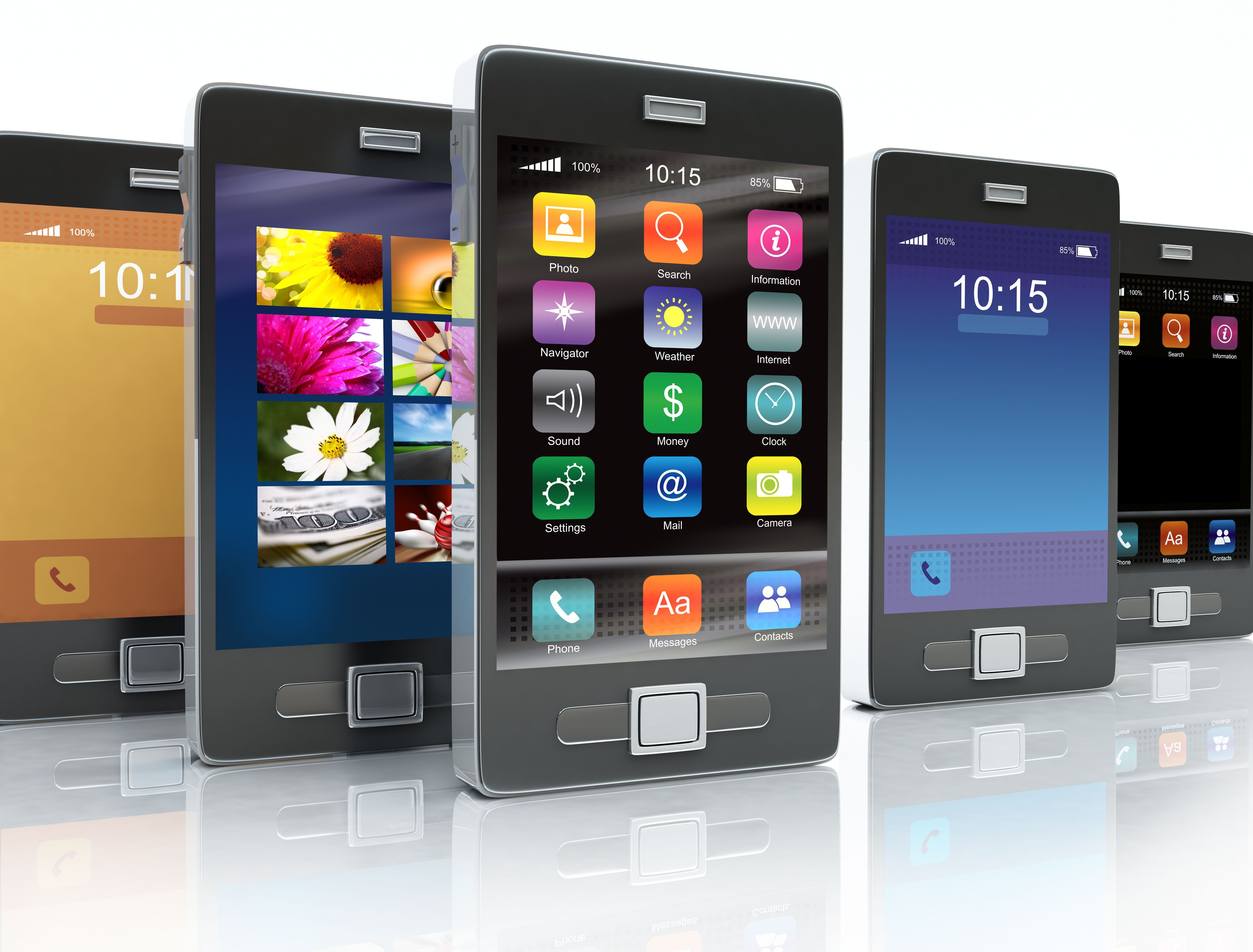 smartphones collection mobiles