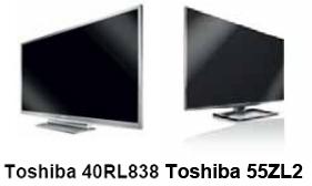 TV 3D Toshiba 2011