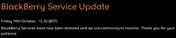 BlackBerry update