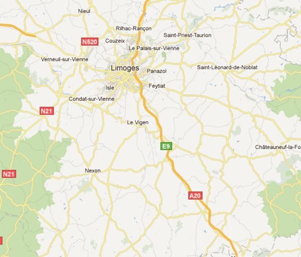 Google Maps Limoges