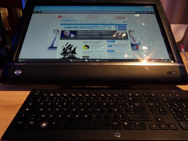 HP TouchSmart 510 - face