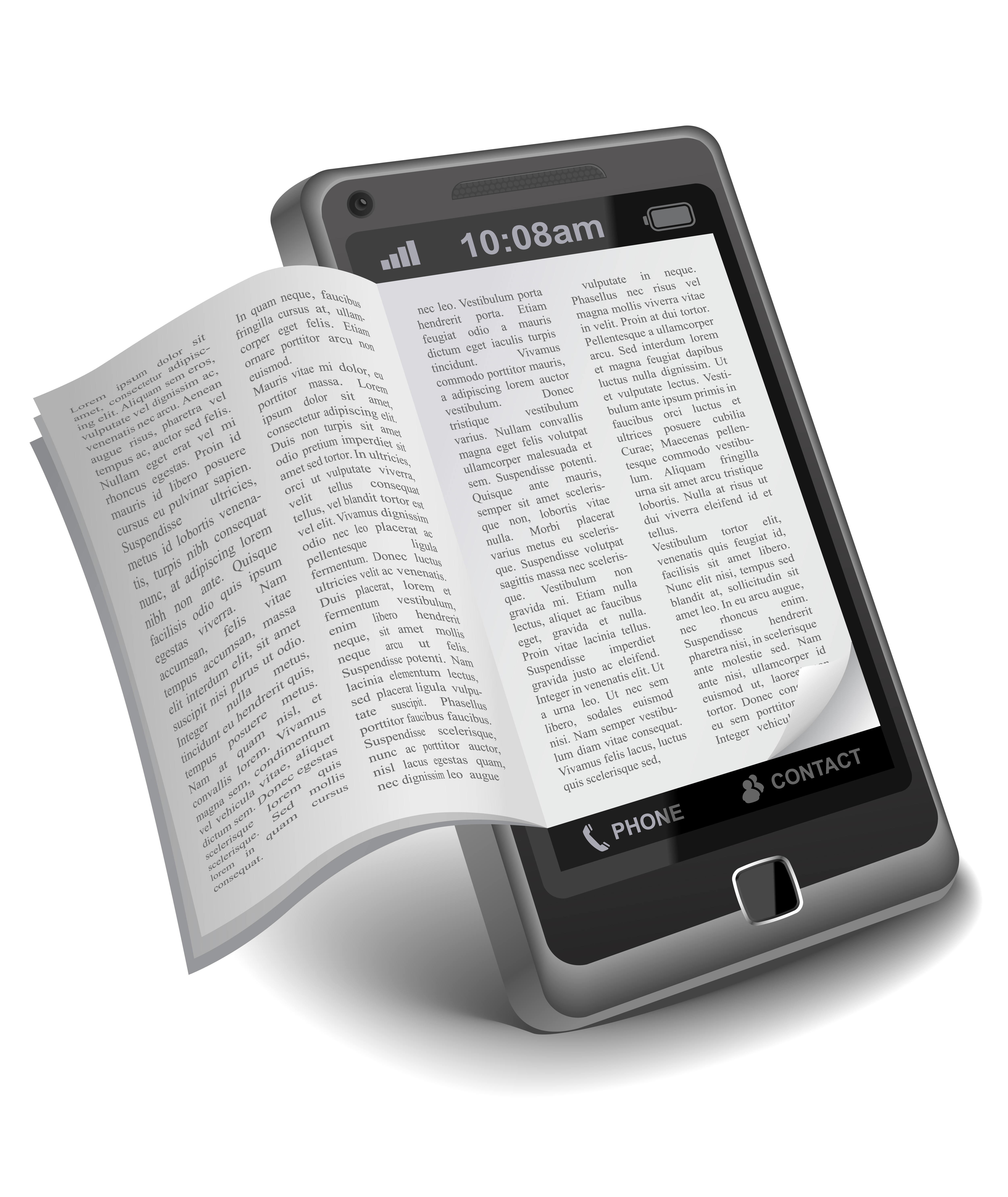 ebook on Smartphone livre-electronique