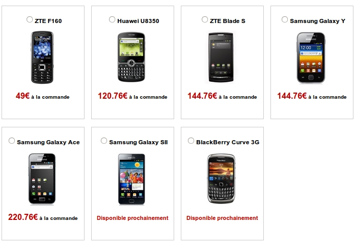 Free Mobile catalogue smartphones