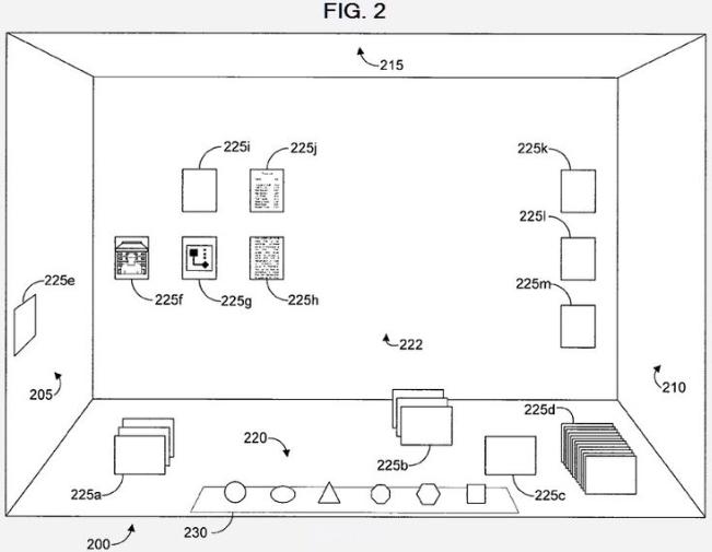 Apple brevet bureau 3D