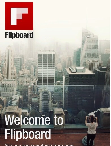 Flipboard magazine interface
