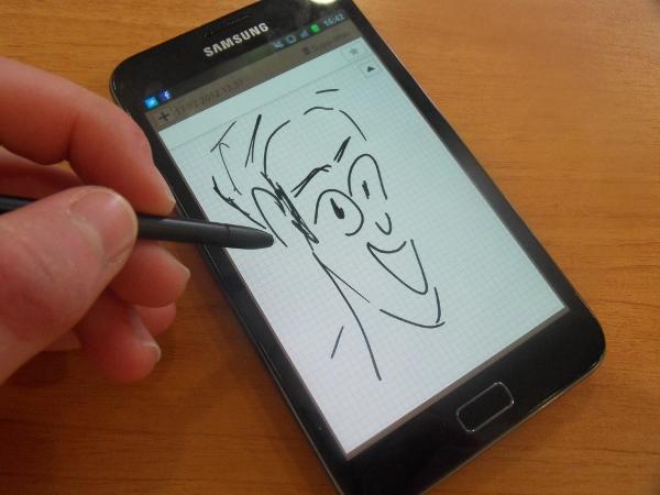 Samsung Galaxy Note dessin smartphone S-Pen