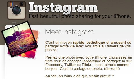 Instagram pour iPhone