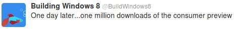 Windows 8 le million