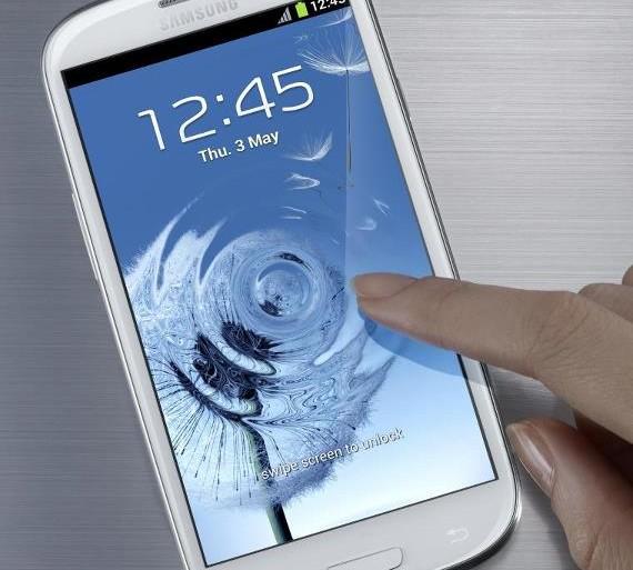 Samsung Galaxy SIII interface