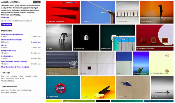 Flickr partage images groupes
