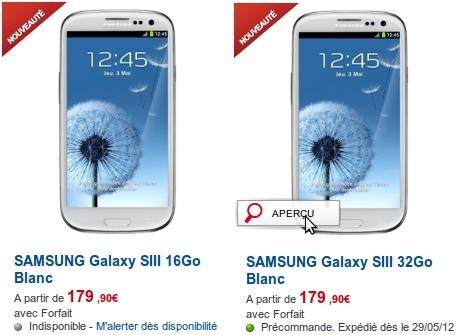 SFR Galaxy S3