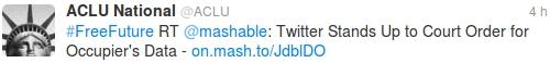 Twitter défend la confidentialité des twittos