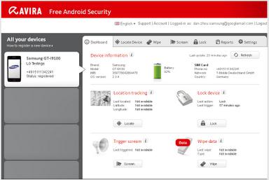 Avira sécurité Android