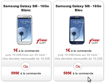 Free Mobile Samsung Galaxy S3