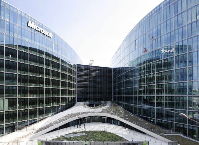 Microsoft-france-campus-vue-de-face-siege-social