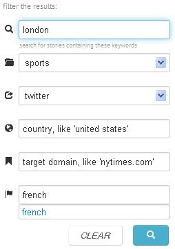 Bitly Realtime moteur de recherche