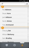 Firefox OS contacts