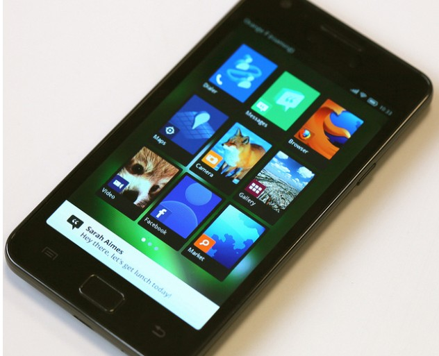 Firefox OS interface smartphone