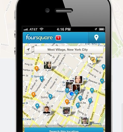 foursquare - geolocalisation - reseau - social