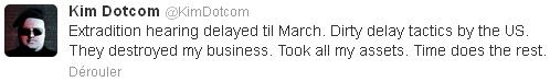 extradition de Kim Dotcom repoussée à mars 2013