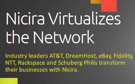 Nicira start-up réseaux virtuels