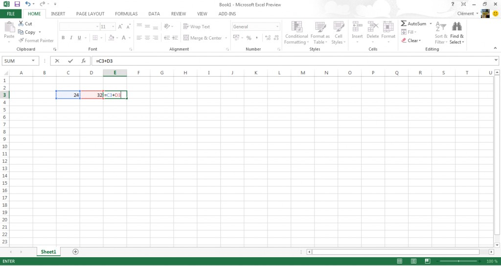 Microsoft Office 2013 : interface d'Excel