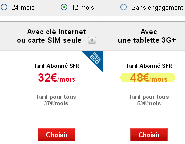 SFR subventionne la tablette Google Nexus 7