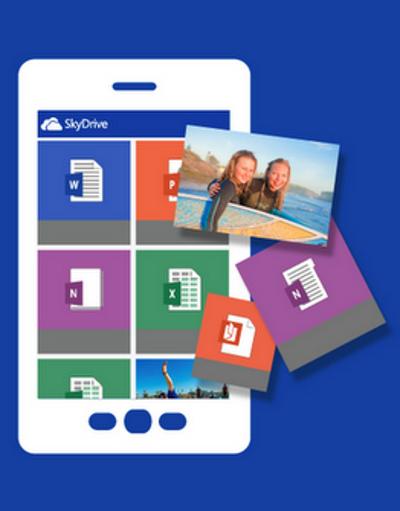 logo Microsoft SkyDrive Android
