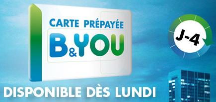carte SIM B&You offres prépayées