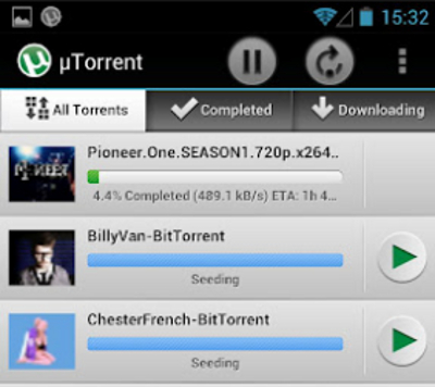µTorrent client BitTorrent pour Android