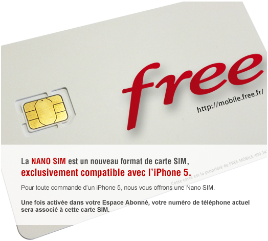 nano-SIM Free Mobile