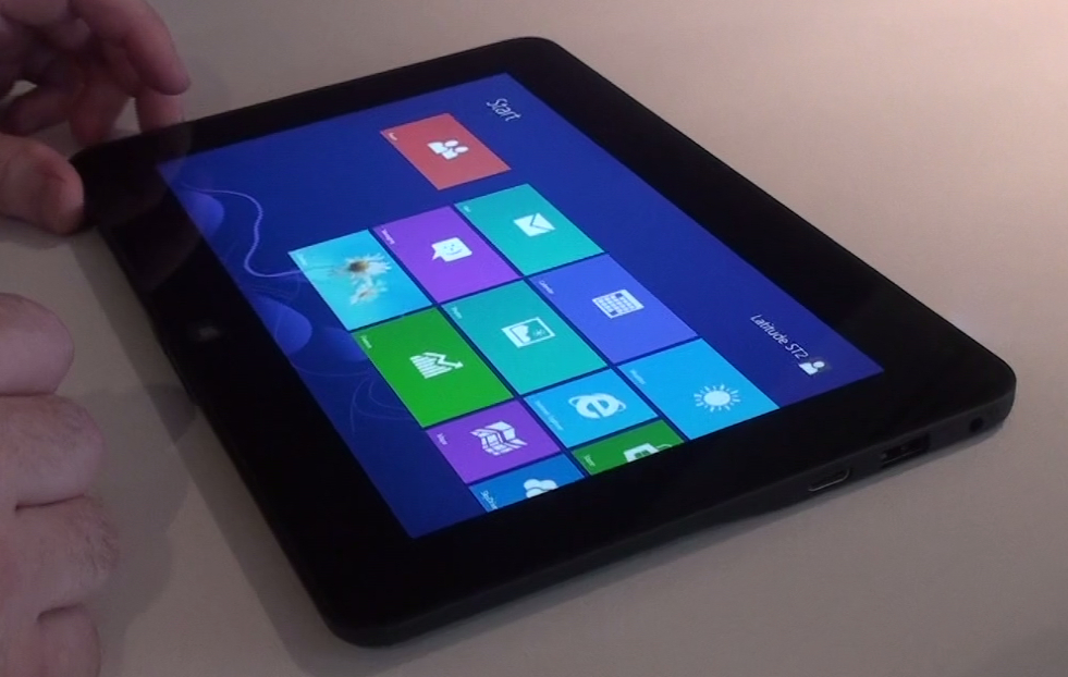 Dell Latitude 10 : interface Windows 8