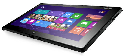 lenovo thinkpad tablet 2 windows 8 d voile son c t pro. Black Bedroom Furniture Sets. Home Design Ideas