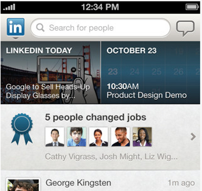 application LinkedIn pour iPad