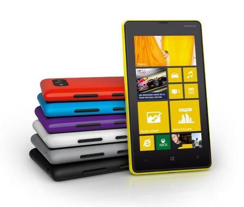 Nokia Lumia 820 : coloris
