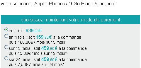 Sosh iPhone 5