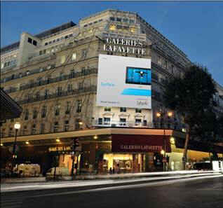 Microsoft Surface aux Galeries Lafayette