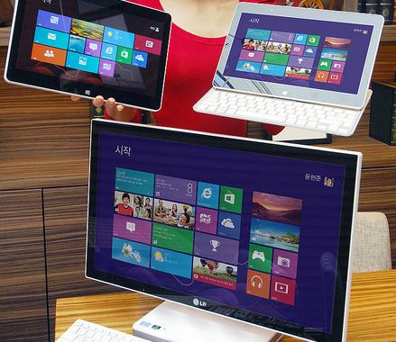 LG tablettes PC convertibles Windows 8