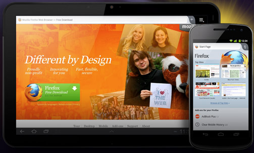 Mozilla Aurora Android Markeplace applications HTML5