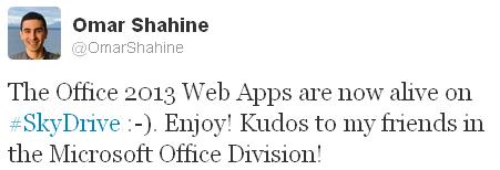 Microsoft Office 2013 Web Apps