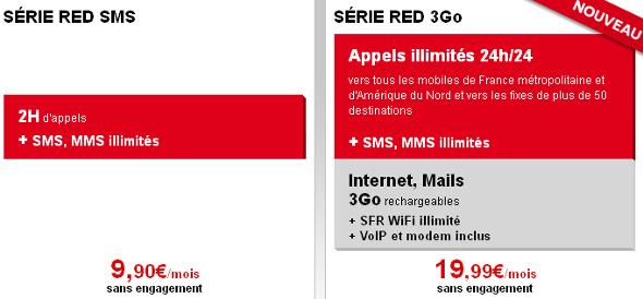 SFR Red forfait mobile 3 Go data